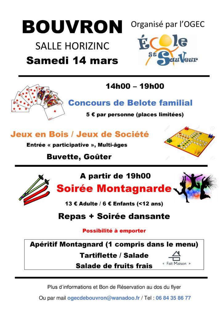 Jeux de société, jeux en bois, concours de belote @ Salle Horizinc Bouvron